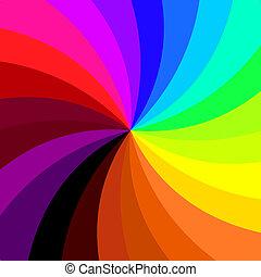 vetorial, coloridos, retro, fundo, espiral