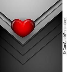 vetorial, coração, fundo