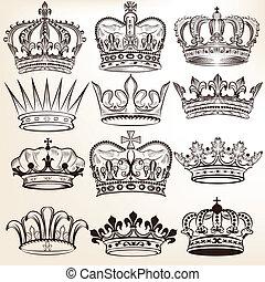 vetorial, coroas reais, cobrança