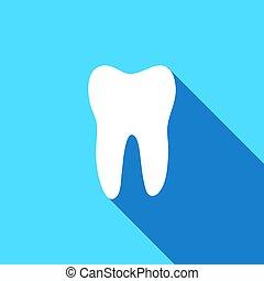 vetorial, dente, ícone