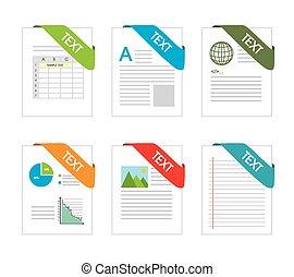 vetorial, desenho, illustration., spreadsheet