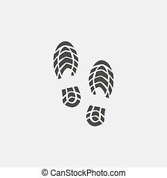 vetorial, desenho, sapatos, ícone, impressionar, pretas, color., apartamento, ilustração, eps10
