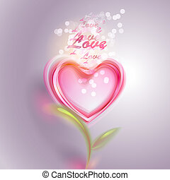 vetorial, dia, fundo, valentine