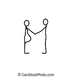 vetorial, figuras, vara, família, ícone