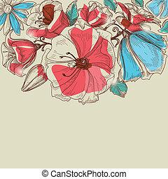 vetorial, flores