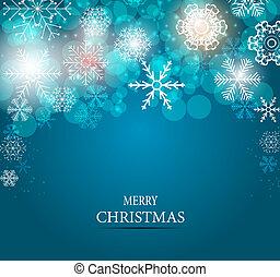 vetorial, fundo, natal, ilustração, snowflakes