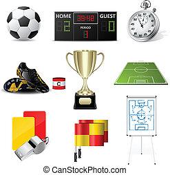 vetorial, futebol, ícones