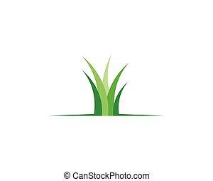 vetorial, grama verde, ilustração