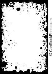 vetorial, grunge, 11x17, tinta, borda, splat