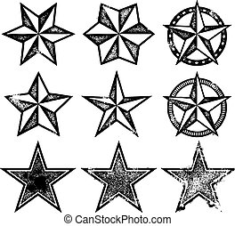 vetorial, grunge, estrelas