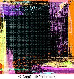 vetorial, grunge, fundo, abstratos