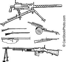 vetorial, guerra, armas