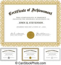 vetorial, guilloche, jogo, certificado