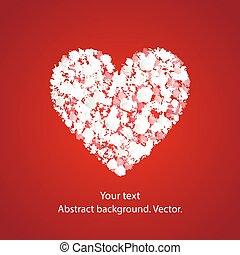 vetorial, heart., fundo