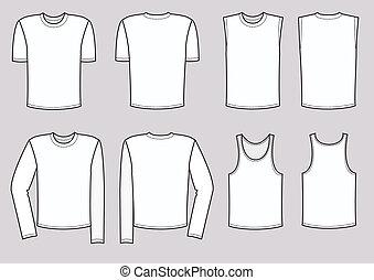 vetorial, homens, roupa, illustration., roupas