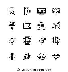 vetorial, jogo, 48x48, ícones, simples, grande, gráficos, contém, linha gráficos, perfect., tráfego, icons., análise, tal, more., análise, dados, pixel, relatado