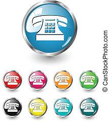 vetorial, jogo, telefone, ícone