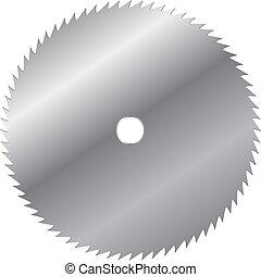 vetorial, lâmina, serra, ilustração