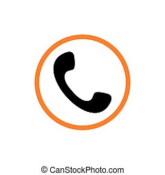 vetorial, logotipo, chamada, telefone, telefone
