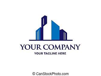 vetorial, logotipo, propriedade, real, desenho