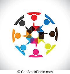 vetorial, mídia, conceito, &, comunicação, interação, social, graphic-