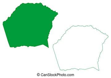 vetorial, municipality, estado, municipalities, (bahia, ilustração, rabisco, república, fria, mapa, federative, brasil, esboço, brazil), agua