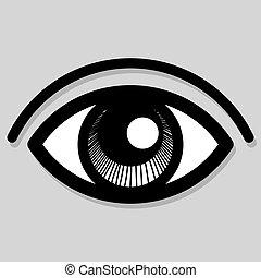 vetorial, olho, ícone
