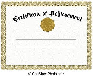 vetorial, ouro, certificado, selo