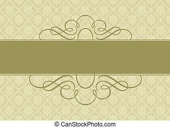 vetorial, ouro, fundo, ornate