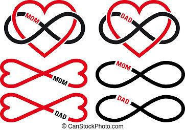 vetorial, pai, jogo, amor, mãe