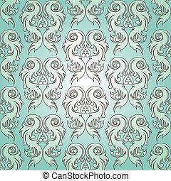vetorial, pattern), (seamless, illustration.