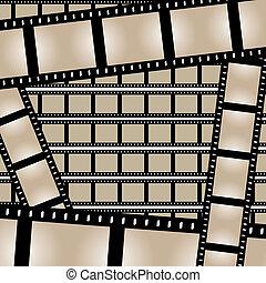 vetorial, películas, tiras