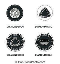 vetorial, pretas, diamante, jogo