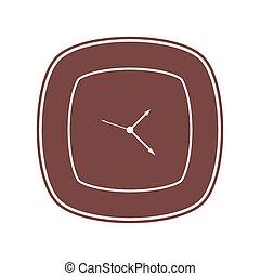 vetorial, relógio, ícone