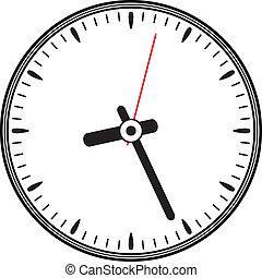 vetorial, relógio