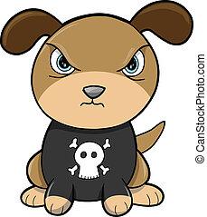 vetorial, resistente, filhote cachorro, animal, cão