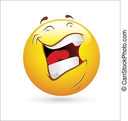 vetorial, rir, smiley, ícone