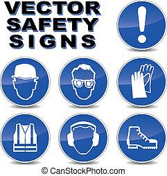 vetorial, segurança, sinais
