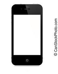 vetorial, smartphone, -, 4s