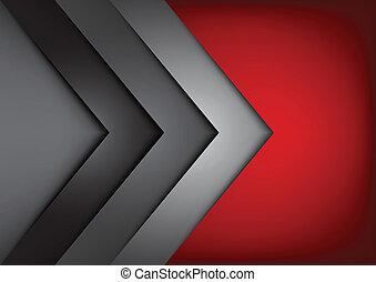 vetorial, sobreponha, dimensão, fundo, vermelho