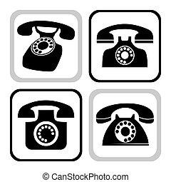 vetorial, telefone, cobrança