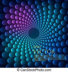 vetorial, vórtice, arco íris, experiência.