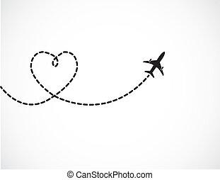viagem, amor, conceito