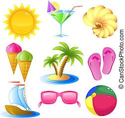 viagem, jogo, férias, ícone
