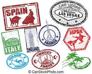 viagem, selos