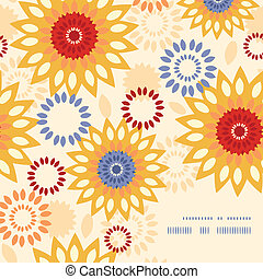 vibrante, abstratos, morno, padrão experiência, floral, canto, quadro