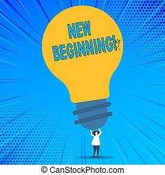 vida, conceito, palavra, negócio, work., texto, novo, escrita, início, crescimento, forma, maneira, fresco, mudança, beginning.