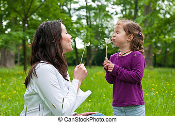 vida, criança, tempo, -, mãe, feliz