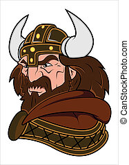 viking, vetorial, ilustração, mascote