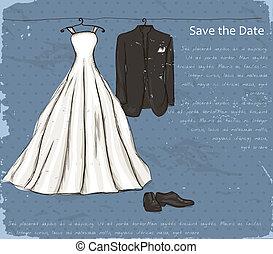 vindima, casório, dress., cartaz